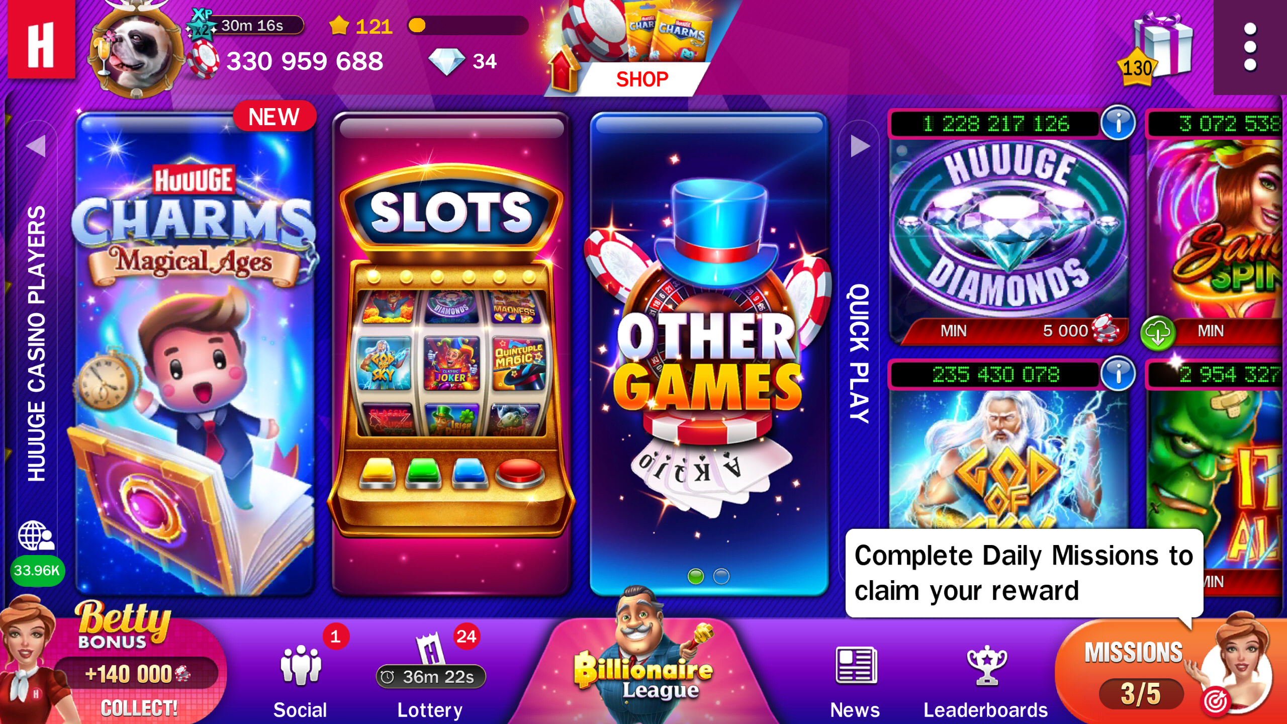 Review Game Huuuge Casino Slots
